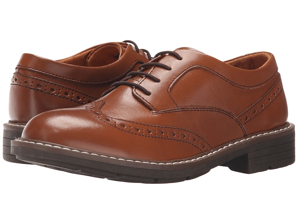 Florsheim Kids Studio Wingtip (Toddler/Little Kid/Big Kid) (Cognac) Boys Shoes