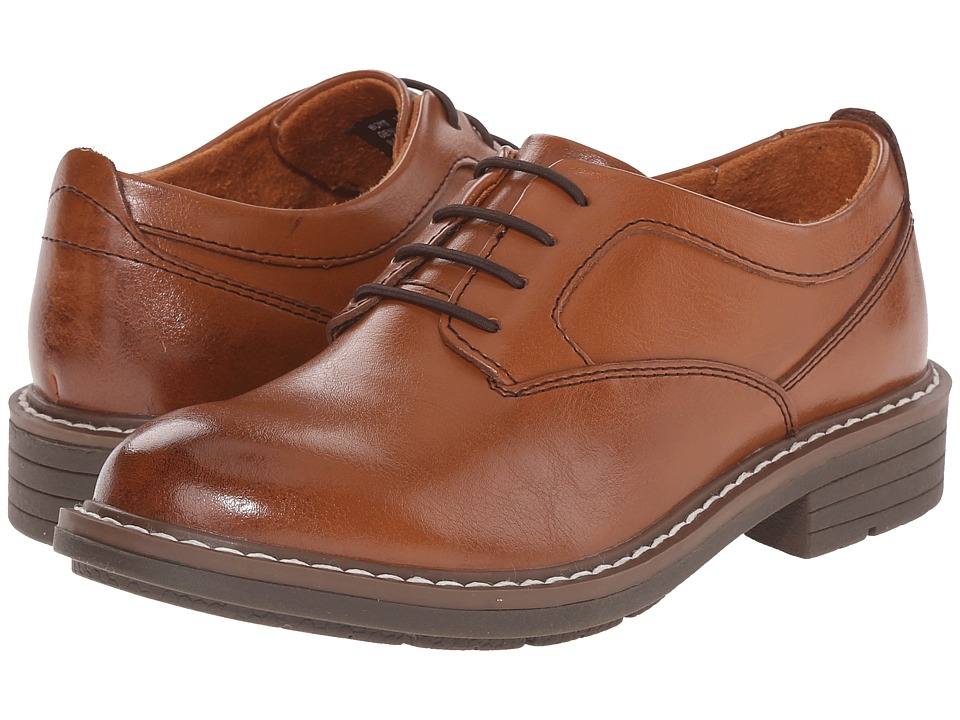 Florsheim Kids - Studio Plain Toe Ox. Jr. (Toddler/Little Kid/Big Kid) (Cognac) Boys Shoes