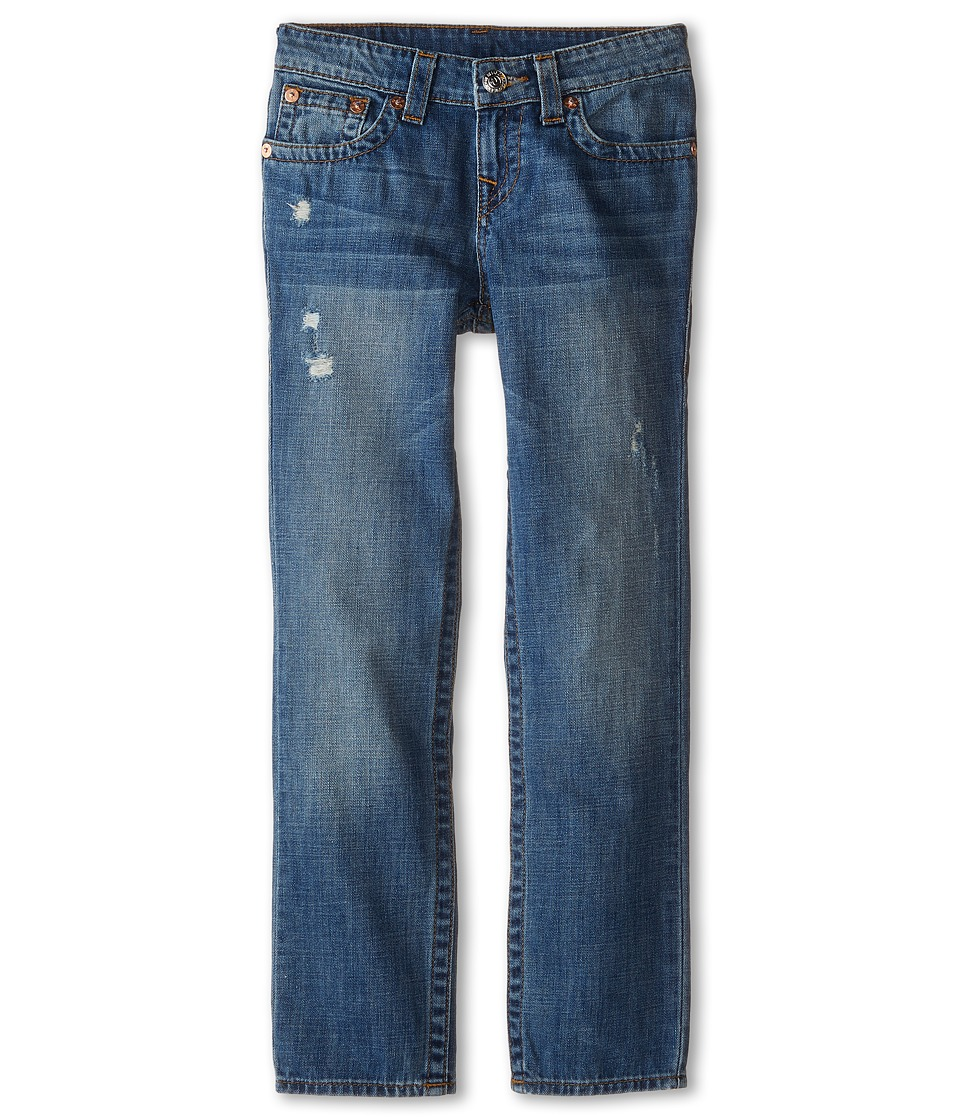 True Religion Kids Geno Relaxed Slim Vintage Gold Single End Classic in Crown Blue Big Kids Crown Blue Boys Jeans