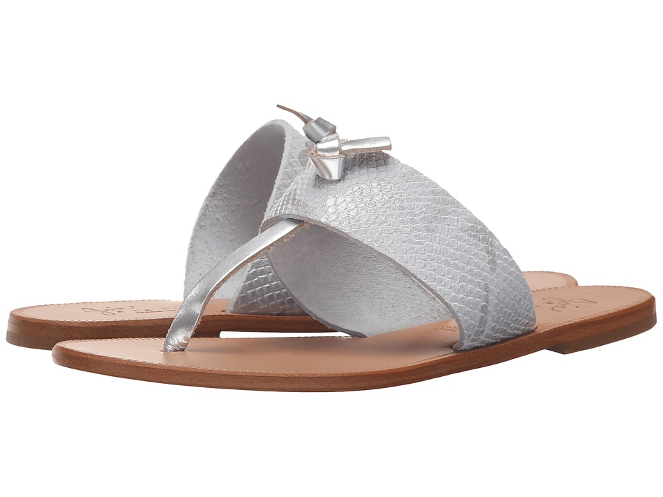 Joie Nice Silver/White Womens Toe Open Shoes