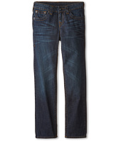 True Religion Kids - Geno Relaxed Slim Fossil Silk Single End Classic Stretch in Dark Indigo (Big Kids)