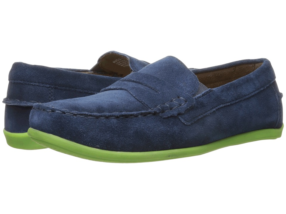 Florsheim Kids Jasper Driver Jr. (Toddler/Little Kid/Big Kid) (Blue Suede) Boys Shoes