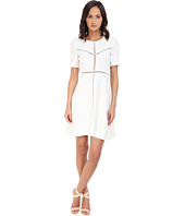 The Kooples - Crepe & Ladder Stitch Dress