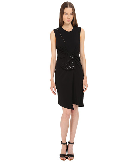 The Kooples Crepe Back Satin & Eyelet Dress
