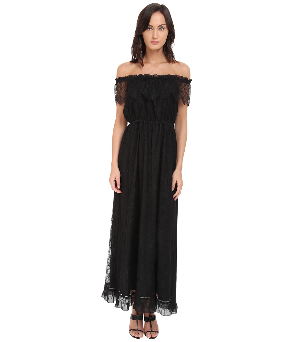 The Kooples Bohemian Lace Dress Black Womens Dress