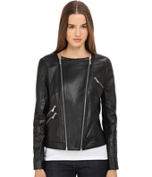 The Kooples - Thin Leather & Rib Jacket