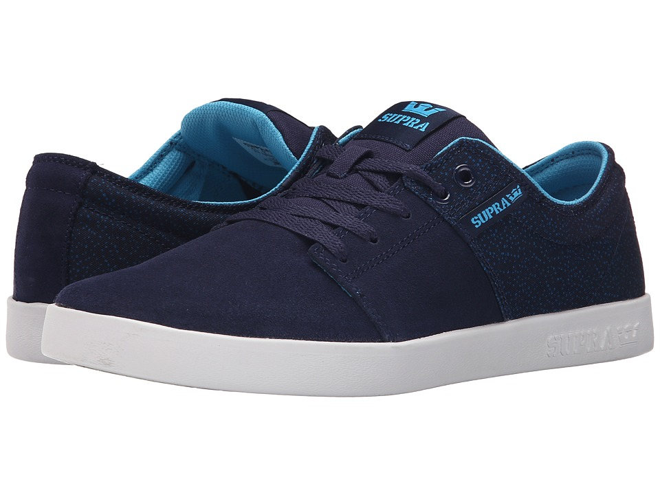 Supra Stacks II Navy/White Mens Skate Shoes