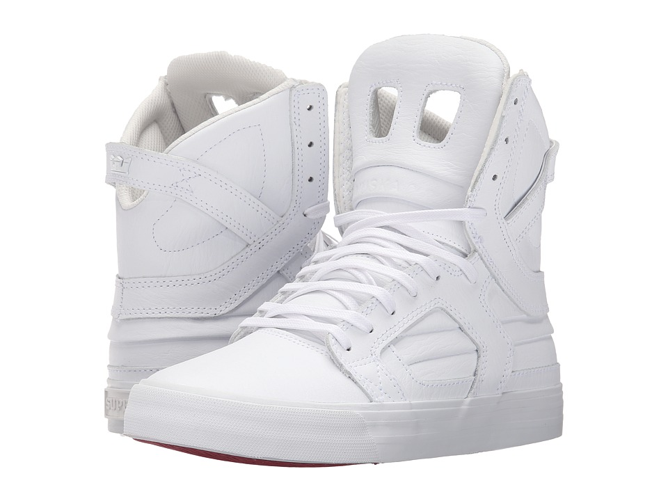 Supra - Skytop II (White/White/Red) Womens Skate Shoes