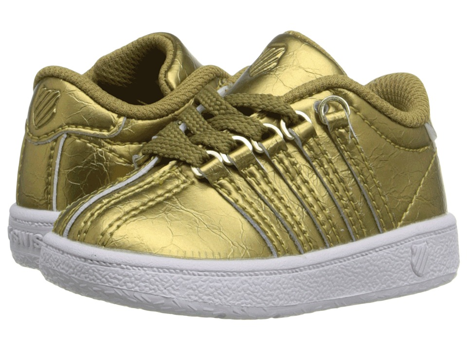 K Swiss Kids Classic VN Infant/Toddler Gold/White Leather Girls Shoes