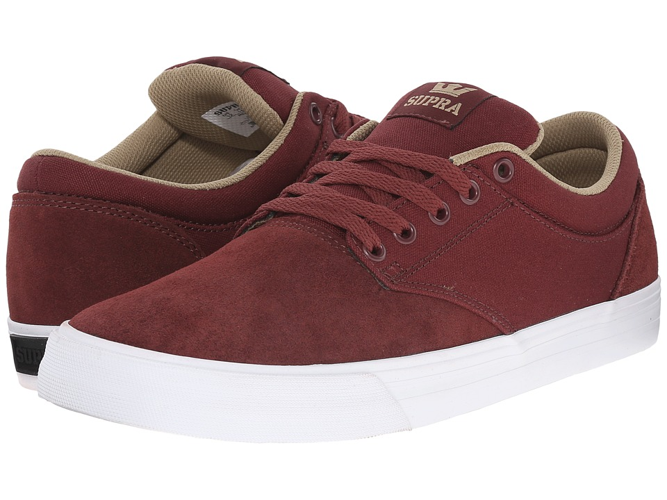 Supra Chino Burgundy/Khaki/White Mens Skate Shoes