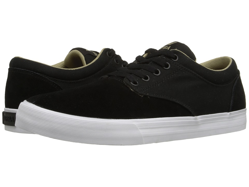 Supra Chino Black/Khaki/White Mens Skate Shoes