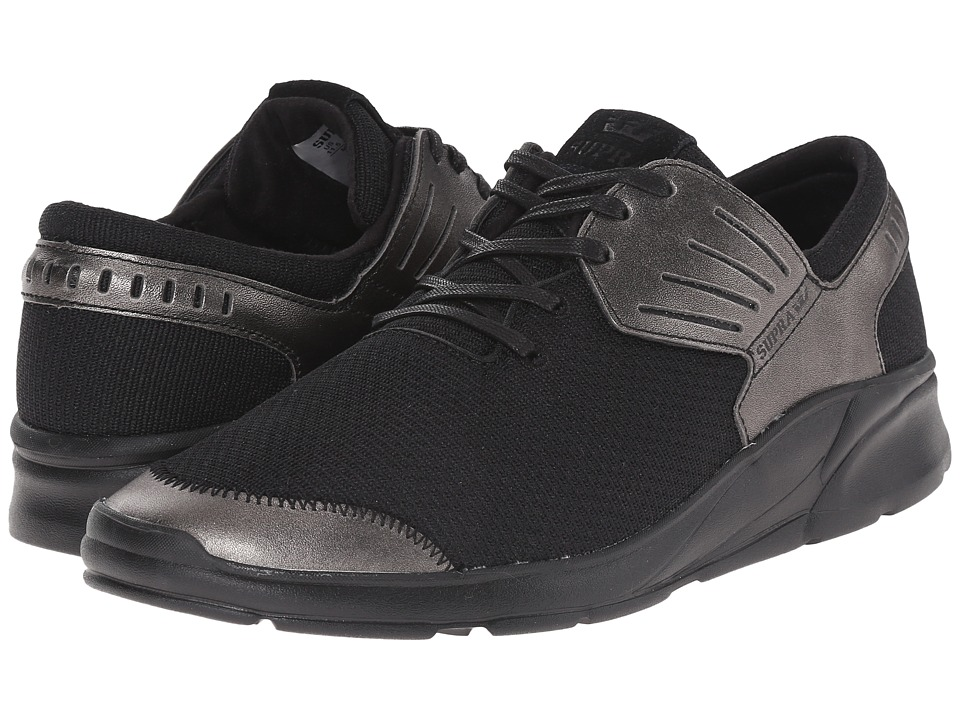 Supra Motion Gunmetal/Black Mens Skate Shoes