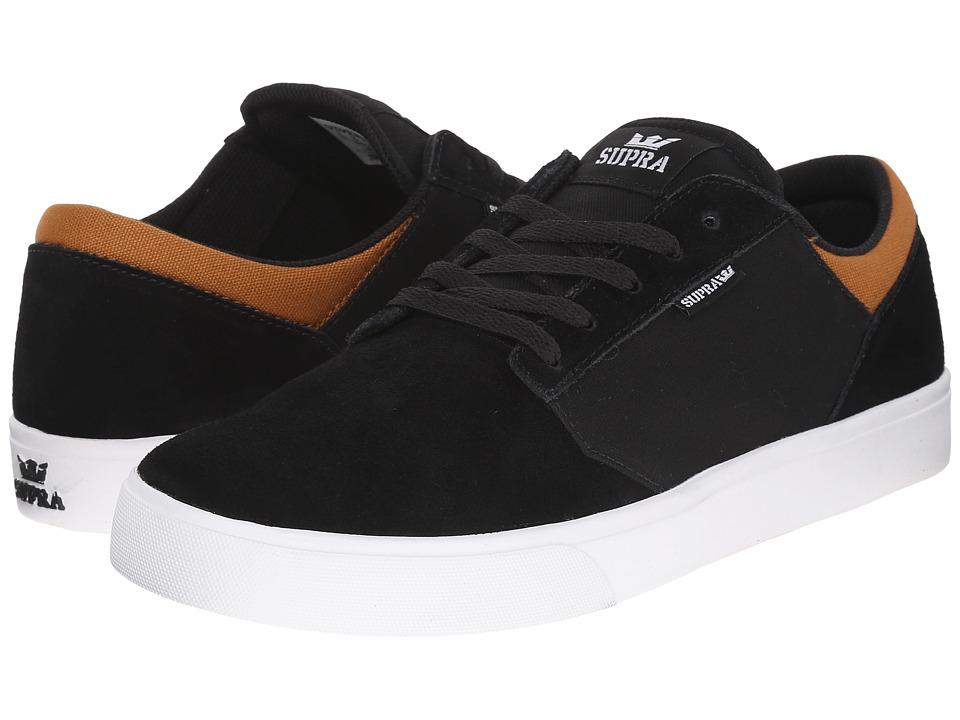 Supra - Yorek Low (Black/Cathay Spice/White) Mens Skate Shoes