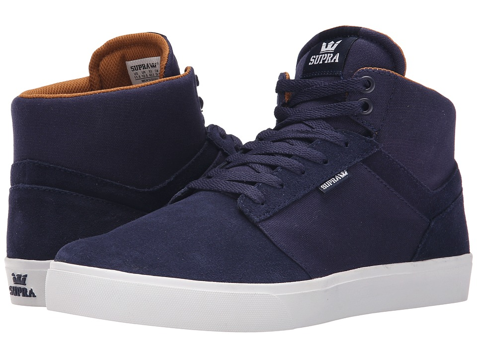 Supra Yorek Hi Navy/White Mens Skate Shoes