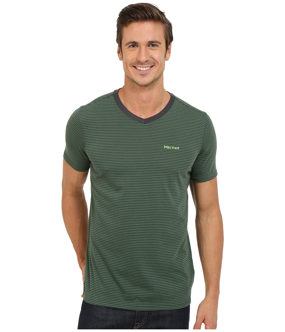 Marmot - Salt Point V-Neck Short Sleeve Tee (Slate Grey) Men