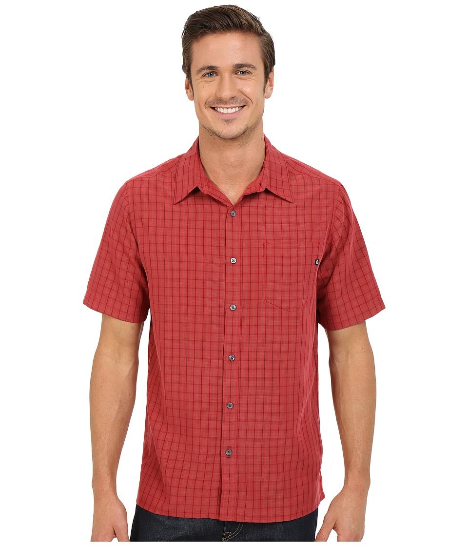 Marmot Eldridge S/S Redstone Mens Short Sleeve Button Up