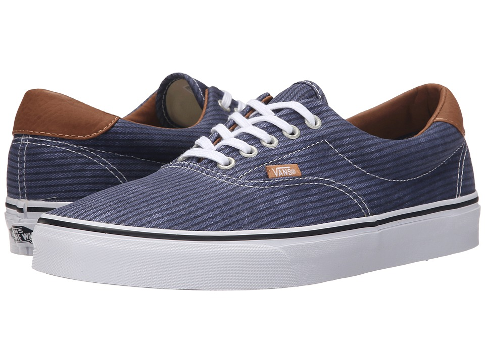Vans Era 59 ((Washed Herringbone) Navy) Skate Shoes