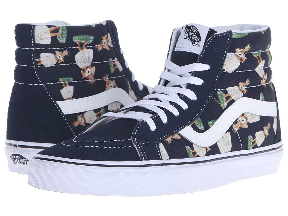 Vans SK8 Hi Reissue Digi Hula Parisian Night/True White Skate Shoes