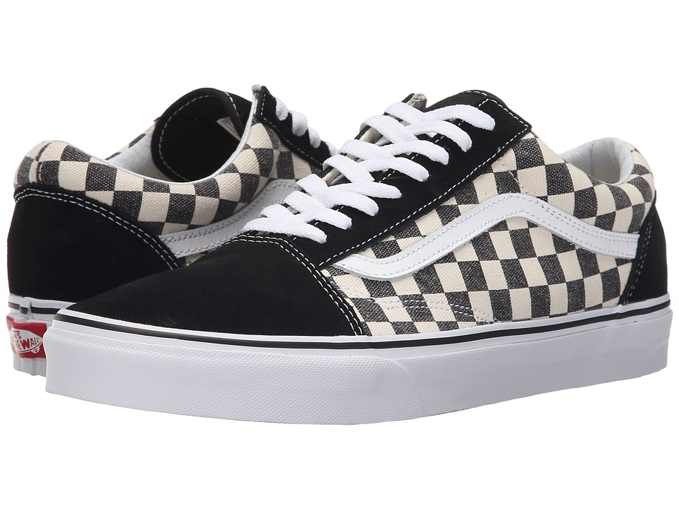 Vans Old Skool Checkerboard Black/Espresso Skate Shoes