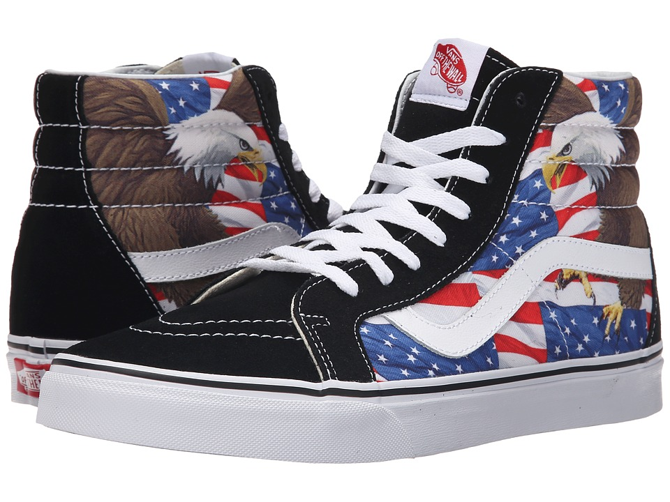 Vans SK8 Hi Reissue Free Bird Black/True White Skate Shoes