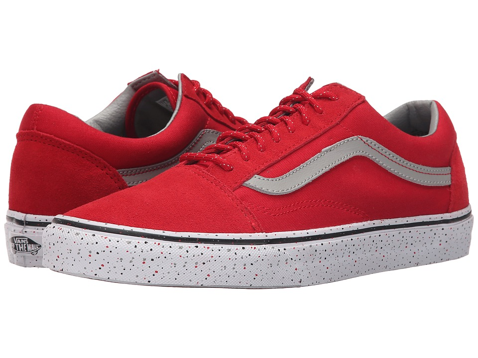 Vans Old Skool Speckle Racing Red/Drizzle Skate Shoes