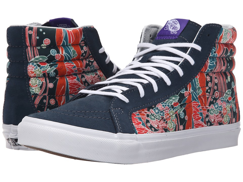 SK8-Hi Slim ((Liberty) Sea Floral/True White) Skate Shoes