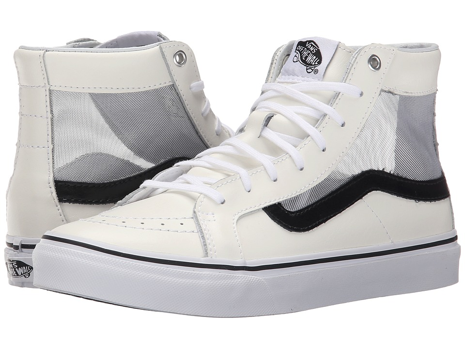 SK8-Hi Slim Cutout ((Mesh) White/Black) Shoes