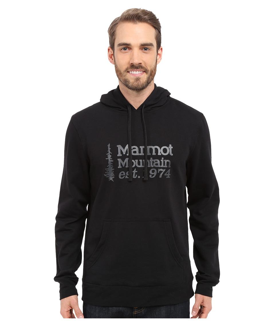 Marmot 74 Hoodie Black Mens Sweatshirt