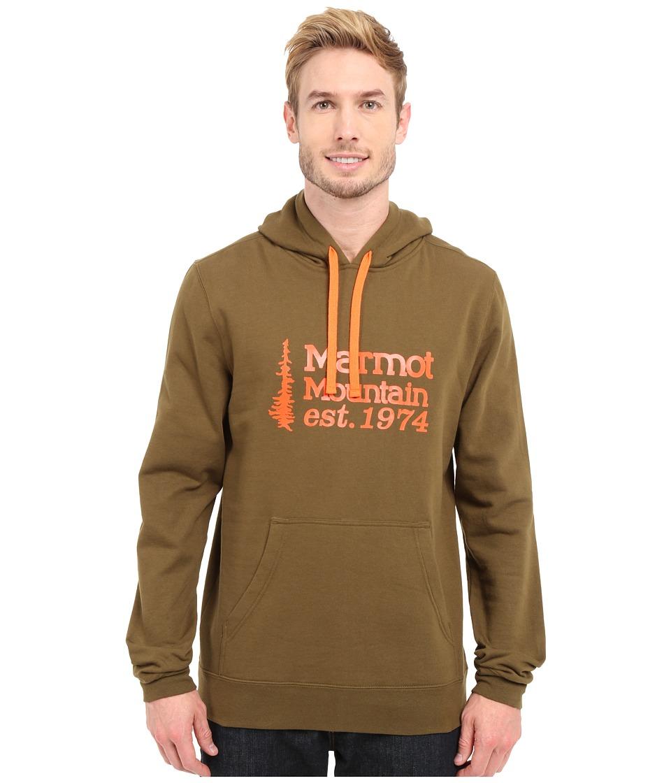 Marmot 74 Hoodie Dark Olive Mens Sweatshirt