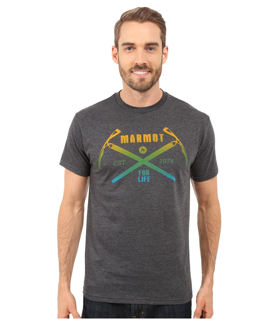 Marmot Ascend Short Sleeve Tee Charcoal Heather Mens T Shirt