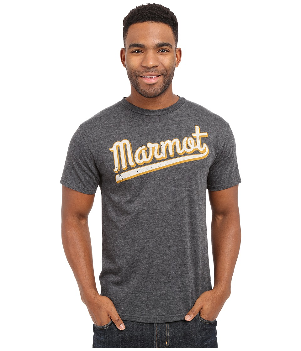 Marmot - Field Short Sleeve Tee (Charcoal Heather) Men