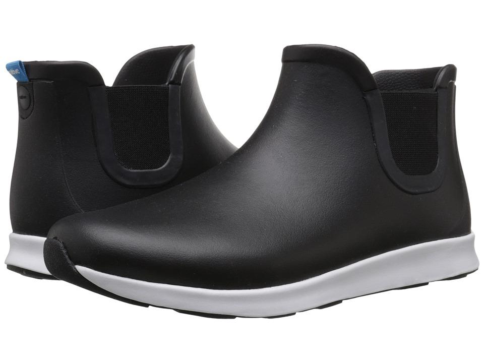 Native Shoes Apollo Rain (Jiffy Black/Shell White/Jiffy Black Rubber) Rain Boots