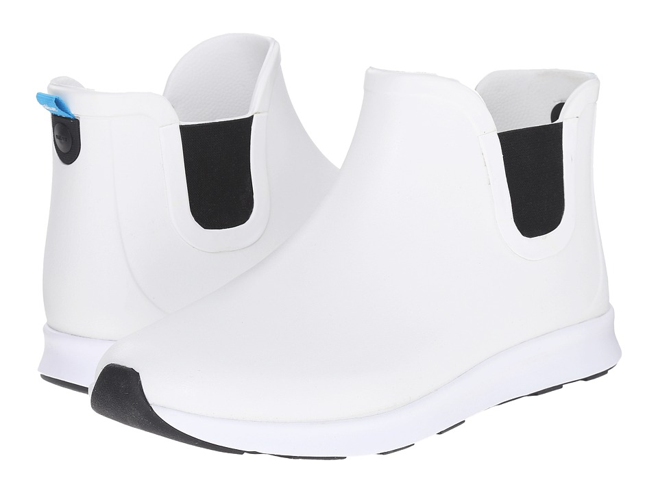 Native Shoes Apollo Rain Shell White/Shell White/Jiffy Black Rubber Rain Boots