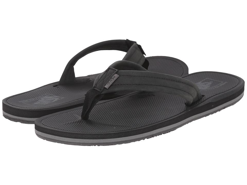 Vans - Nexpa Leather (Black/Pewter) Men