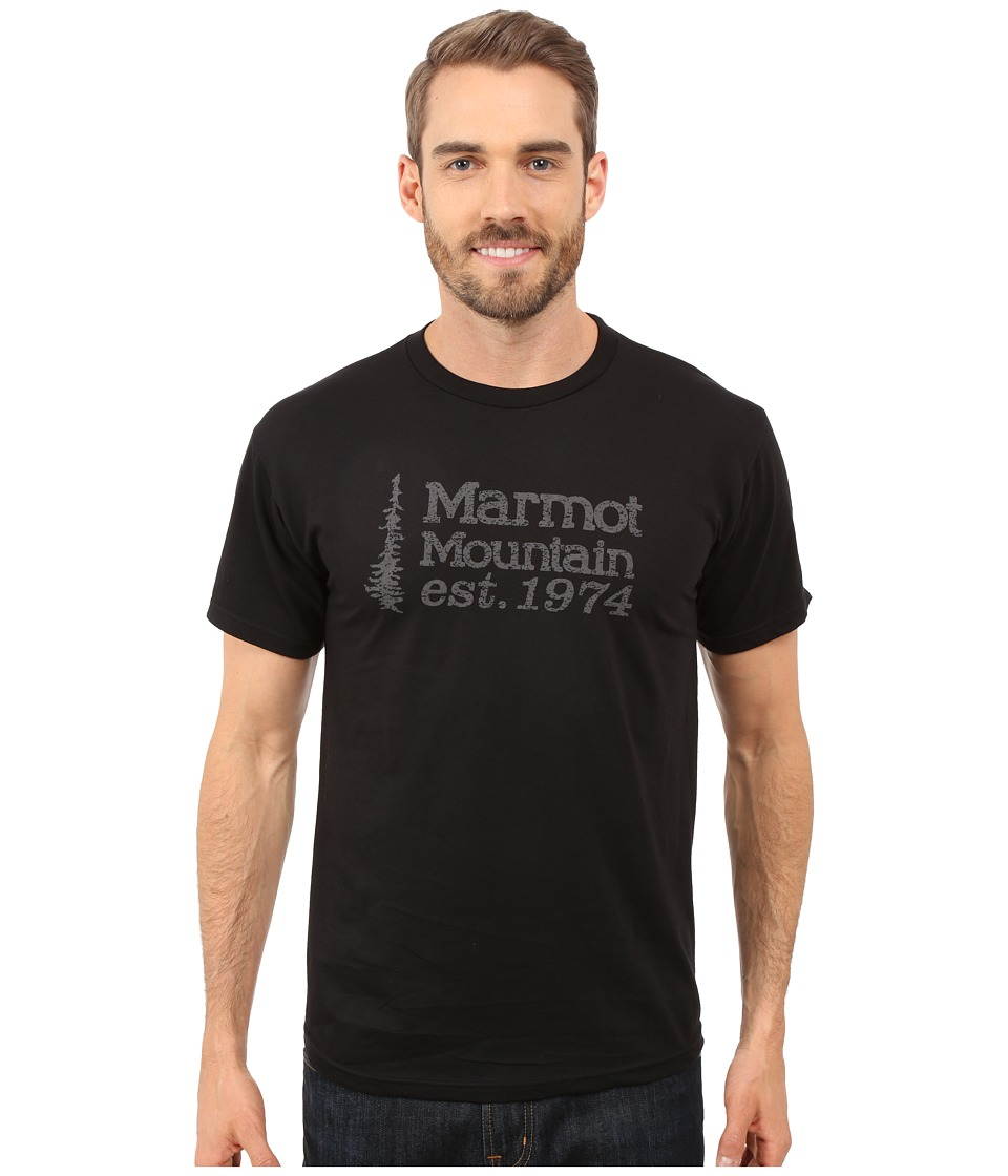 Marmot 74 Short Sleeve Tee (Black) Men