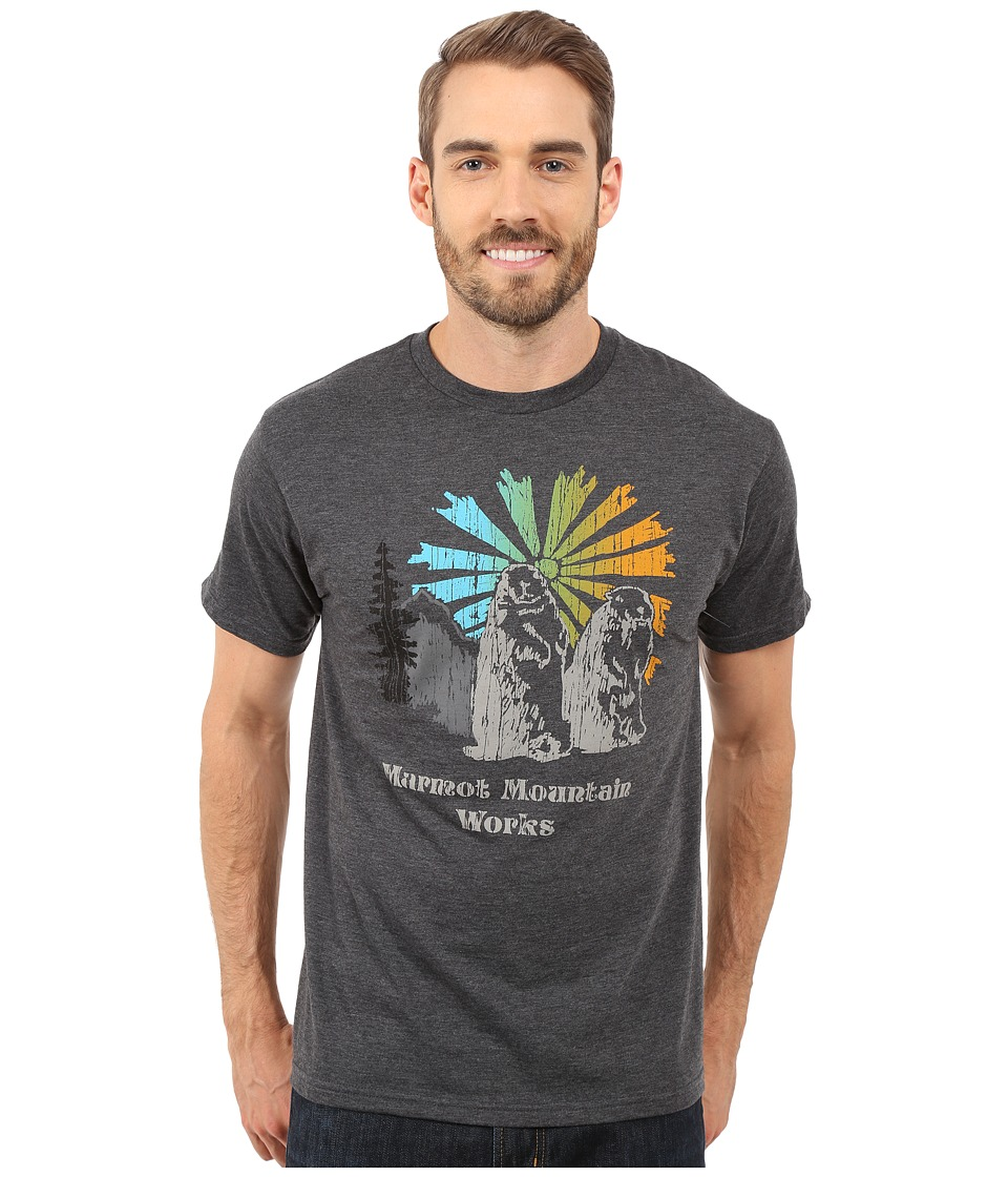 Marmot - Heritage Short Sleeve Tee (Charcoal Heather) Men