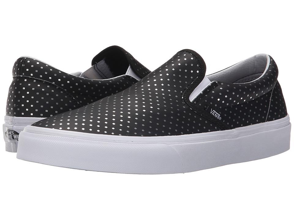 Vans Classic Slip On Perf Hologram Black/True White Skate Shoes