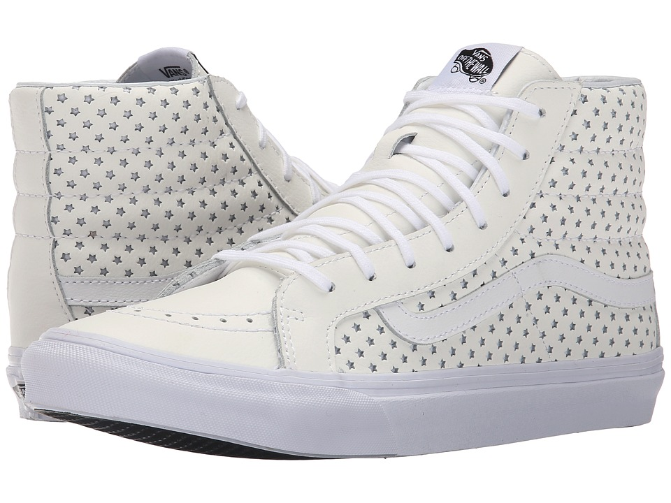 SK8-Hi Slim ((Perf Stars) True White) Skate Shoes
