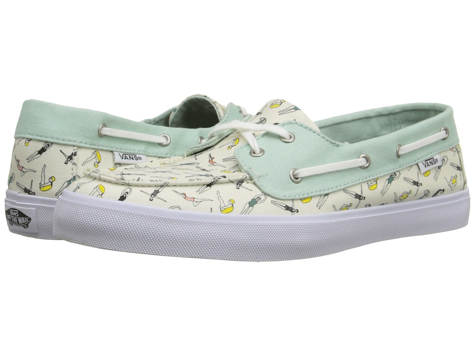 Vans Chauffette SF Swimmers Gossamer Green/Classic White Womens Lace up casual Shoes