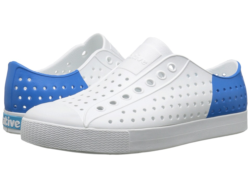 Native Shoes Jefferson Shell White/Shell White/Barracuda Blue Block Shoes