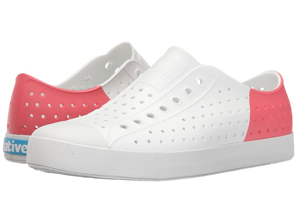 Native Shoes Jefferson Shell White/Shell White/Snapper Red Block Shoes
