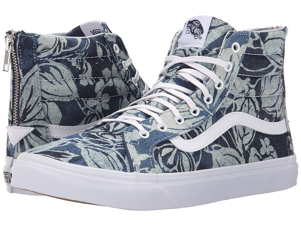 SK8-Hi Slim Zip ((Indigo Tropical) Blue/True White) Skate Shoes