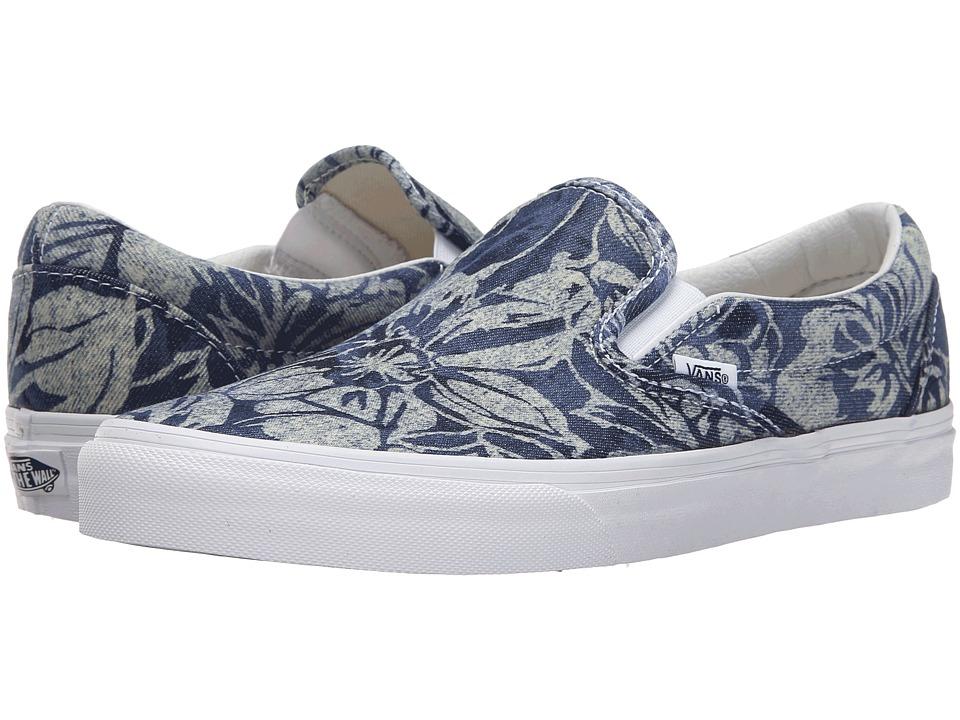 Vans Classic Slip On Indigo Tropical Blue/True White Skate Shoes