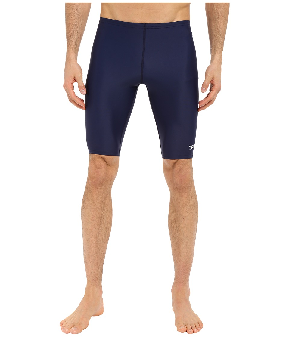 Speedo Powerflex Eco Solid Jammer (Speedo Navy) Men's Swi...