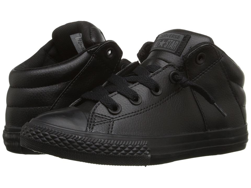 Converse Kids Chuck Taylor All Star Axel Mid Little Kid/Big Kid Black/Black/Black Boys Shoes