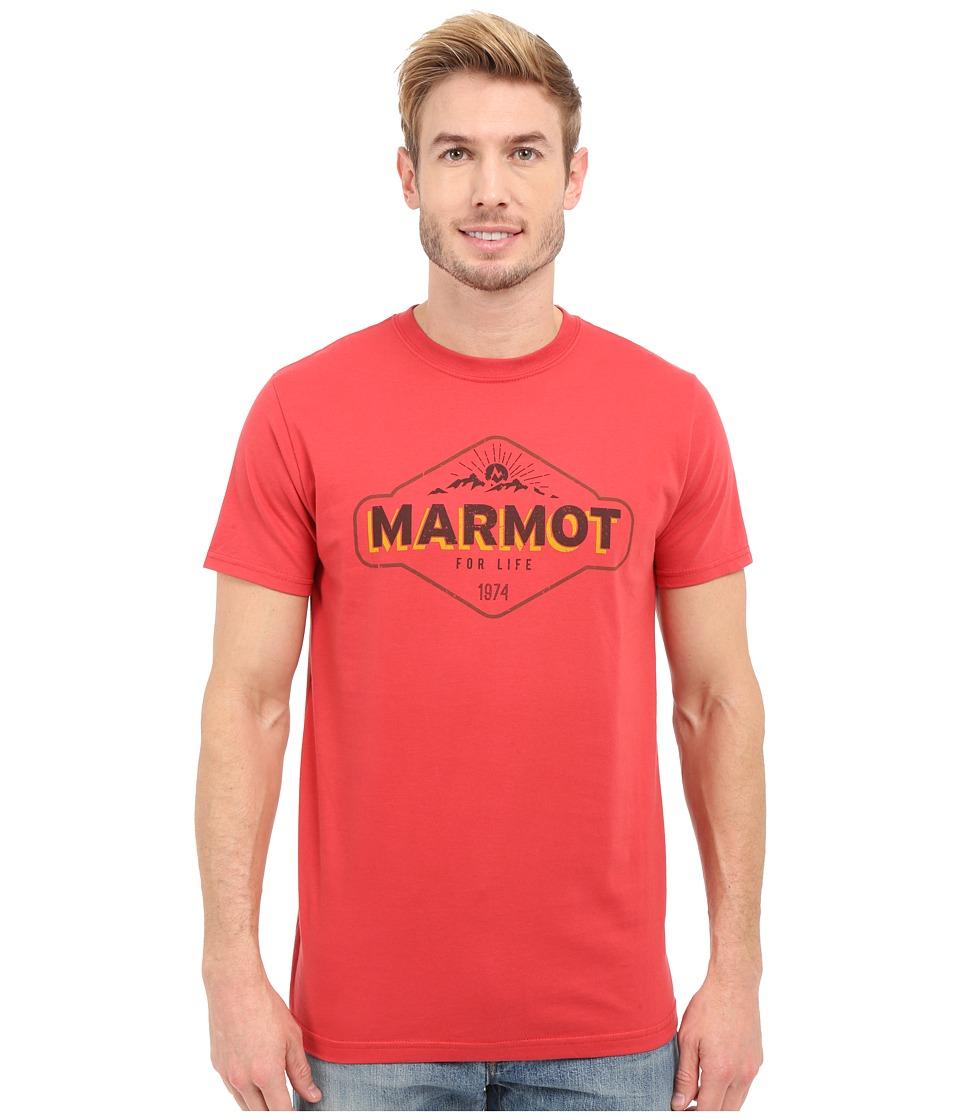 Marmot - Trinity Short Sleeve Tee (Cardinal) Men