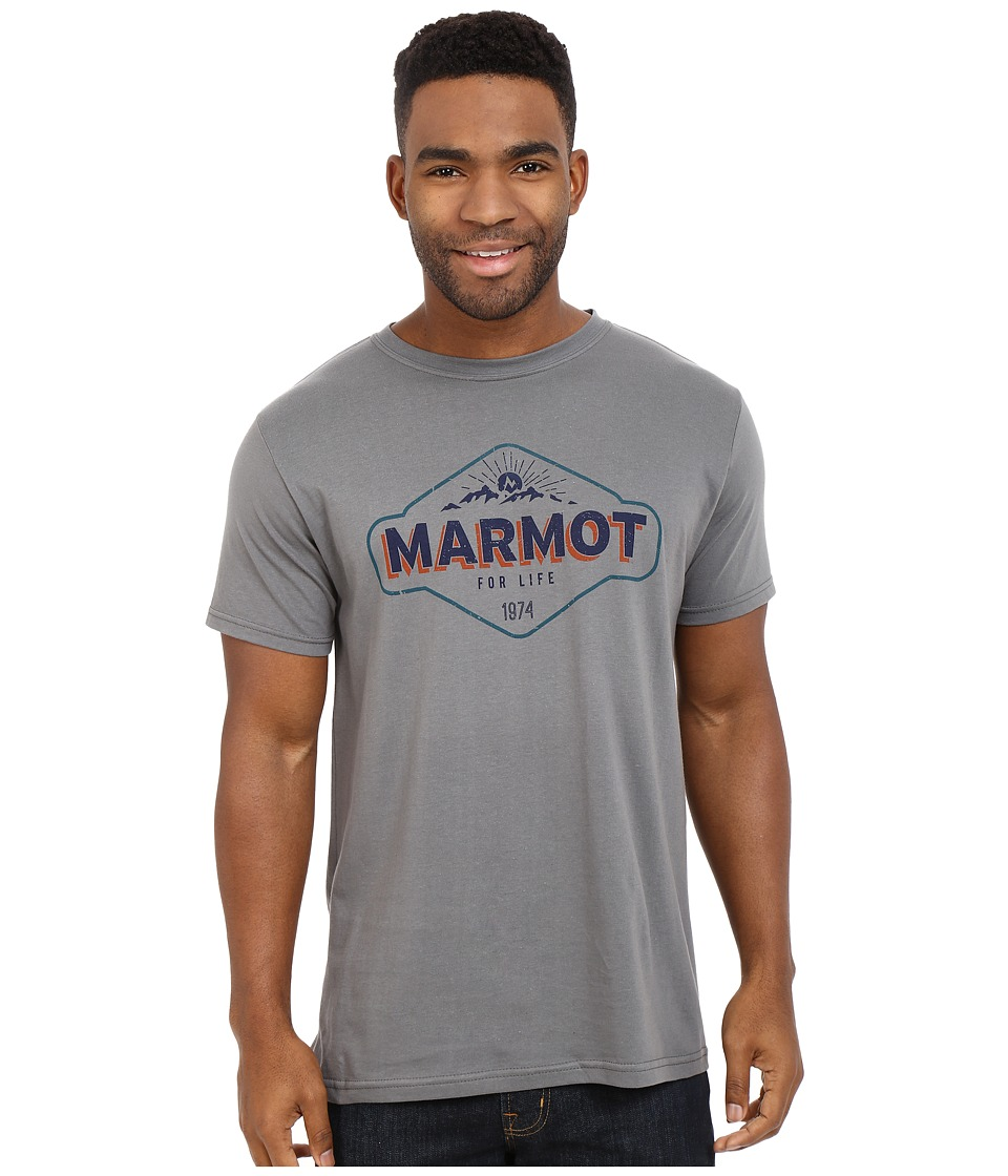 Marmot - Trinity Short Sleeve Tee (Charcoal) Men
