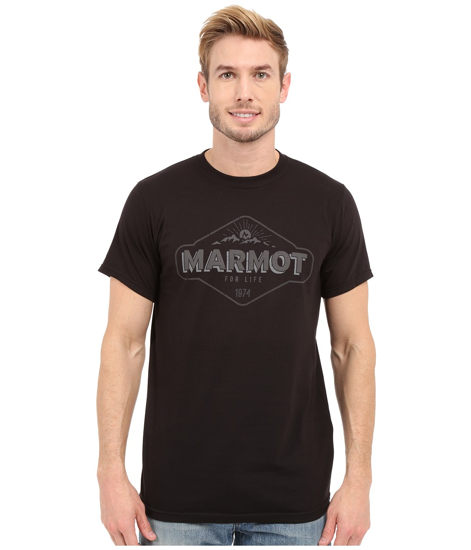 Marmot - Trinity Short Sleeve Tee (Black) Men