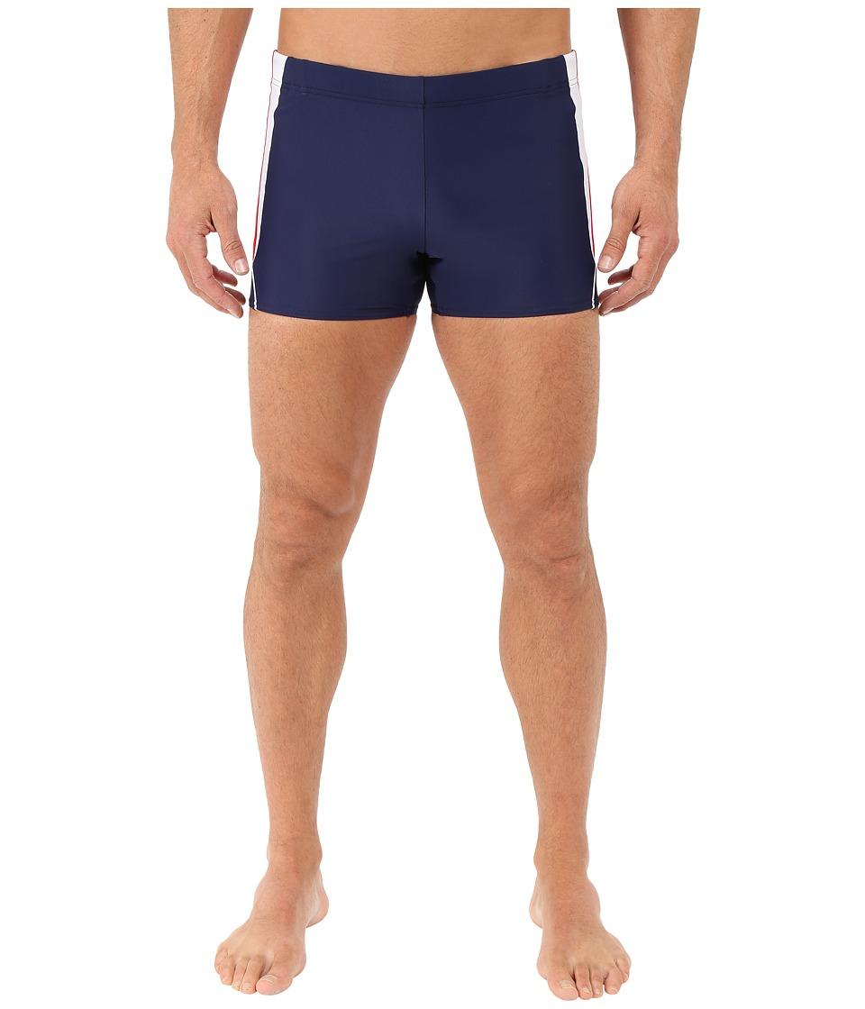 Speedo Fitness Splice Square Leg (Navy) Men's Swimwear