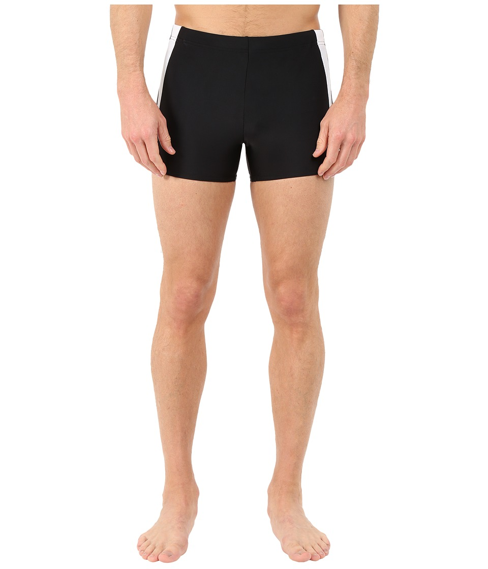 Speedo Fitness Splice Square Leg (Black/Black) Men's Swim...